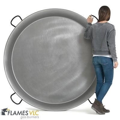 Paellera de acero pulido 160cm ø (150 a 300 raciones)