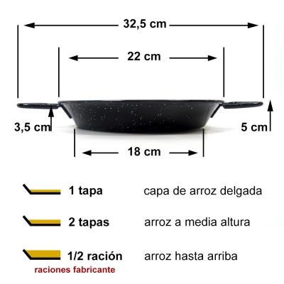 Paella vitrificada 22cm ø (colegial)