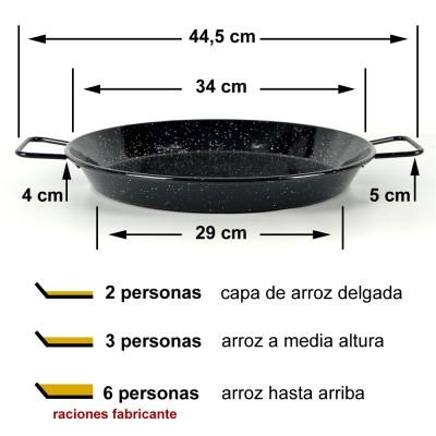 Paella vitrificada 34cm ø (3 a 6 raciones)