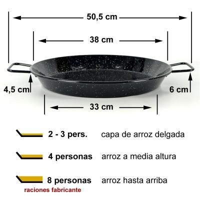 Paella vitrificada 38cm ø (4 a 8 raciones)