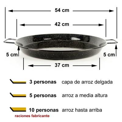 Paella vitrificada 42cm ø (5 a 10 raciones)