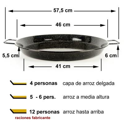 Paella vitrificada 46cm ø (6 a 12 raciones)