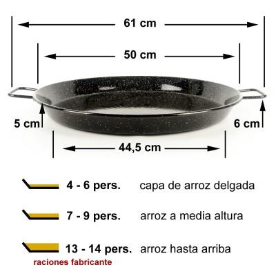 Paella vitrificada 50cm ø (7 a 13 raciones)