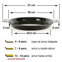 Paella esmaltada 50cm de 6 a 8 raciones