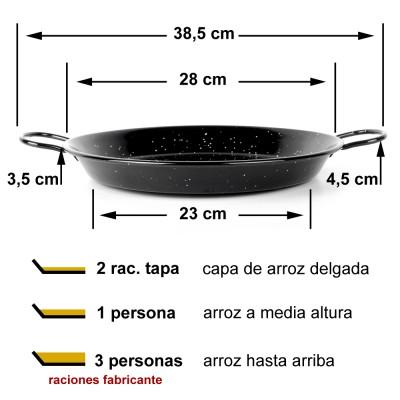 Paella esmaltada 28cm ø (1 a 3 raciones)