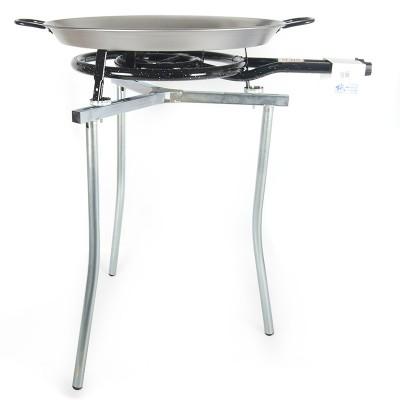Kit Paellero 40cm + Paellera de acero pulido 55cm + Trípode