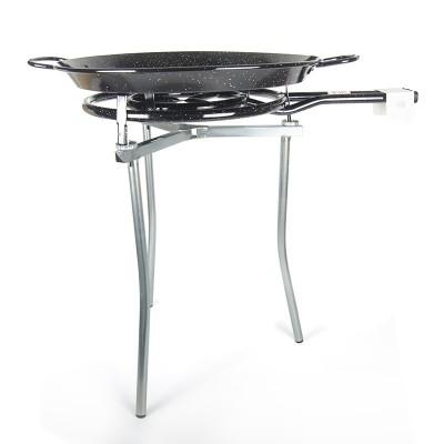 Kit Paellero 50cm + Paellera esmaltada 70cm + Trípode