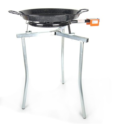 Kit Paellero 40cm + Paellera esmaltada 50cm + Tripode
