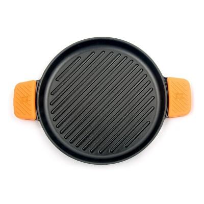 Plancha redonda de hierro fundido rayas 32cm | Bra Efficient Iron