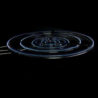 Paellero de 70 cm encencido llama azul