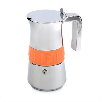 Cafetera acero inoxidable 10 tazas (Bra Elegance Naranja)