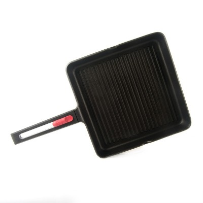 Asador grill con rayas Bra Infinity 28 x 28 cm (aluminio fundido 6mm)