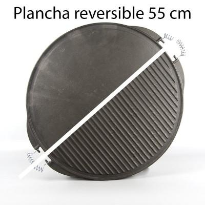 Plancha para asar de hierro fundido 55cm ø