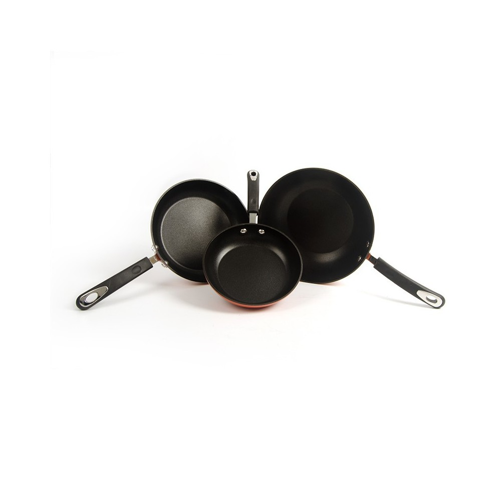 Pack Wok y 2 sartenes Vitrex Gourmet (Fuego)