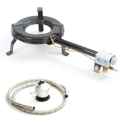 Hornillo de gas 25 cm con manoreductor y goma reforzada