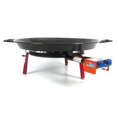 Kit Super Paellero + patas encimera + Paella 8 personas Esmaltada