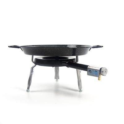 Deluxe Set Paellero + Paella para 2 personas + patas encimera | Paella esmaltada