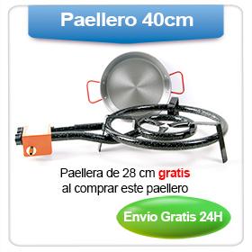Oferta: Regalo paellera 28 cm por la compra de este paellero de gas de 40 cm