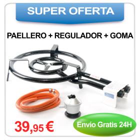 Oferta: Paellero + Regulador + Goma